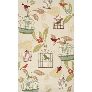 Hand-hooked Canaries Antique White Indoor/Outdoor Rug (3' x 5')