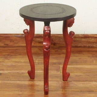 Sese Wood 'African Mother' Accent Table (Ghana)