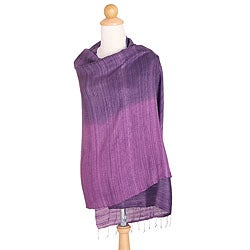Silk 'Bold Violet' Shawl (Thailand)