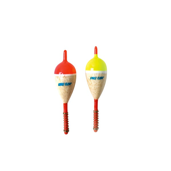 Eagle Claw 1-inch Oval-Spring Shorty Balsa Floats (50 Pack)
