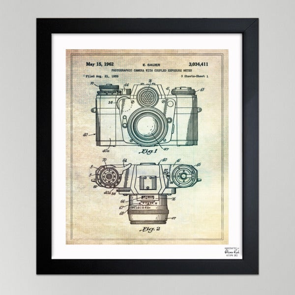 Oliver Gal 'Sauer Photographic Camera, 1962' Framed Print Art