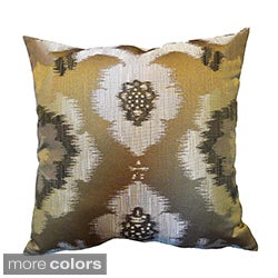 'Puebla' Woven Ikat Themed 18x18-inch Throw Pillows (Set of 2)
