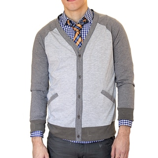 Something Strong Men's Slim Fit Two-tone Raglan Cut Cardigan