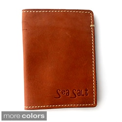 Sea Salt Genuine Leather Passport Case