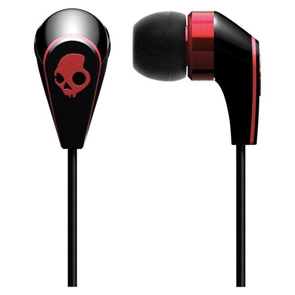 Skullcandy 50/50 Black/Red Earbud Headphones