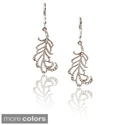 Riccova 14k Goldplated Crystal Leaf Dangle Earrings