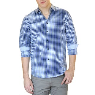Something Strong Men's Slim Fit Gingham Plaid Shirt