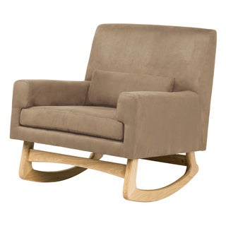 Taupe Microsuede 'Modern Rocker' Upholstered Rocking Chair