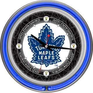 NHL Vintage Toronto Maple Leaf Neon 14-inch Clock