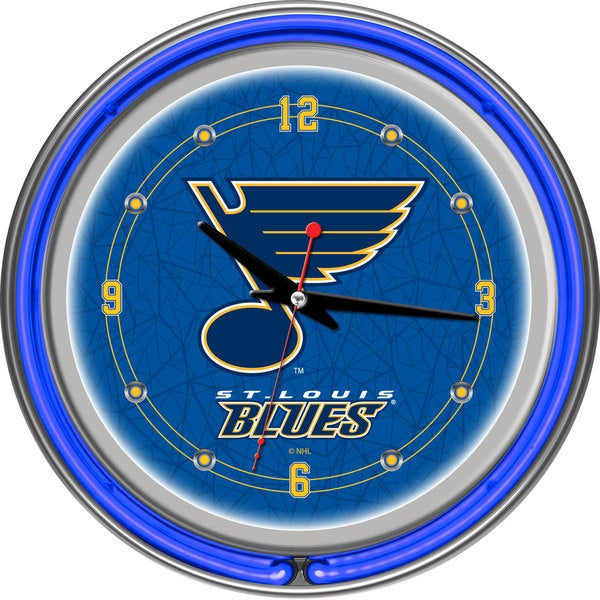 NHL St. Louis Blues Neon Clock