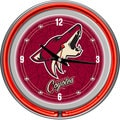 NHL Phoenix Coyotes Double Neon Ring Clock