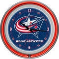 NHL Columbus Blue Jackets Double Neon Ring Clock