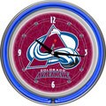 NHL Colorado Avalanche Double Neon Ring Clock