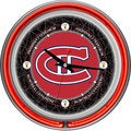 NHL Vintage Montreal Canadiens Double Neon Ring Clock