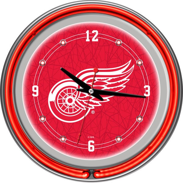 NHL Detroit Redwings Neon Clock