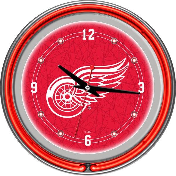 NHL Detroit Redwings Neon Clock