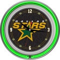 NHL Dallas Stars Double Neon Ring Clock
