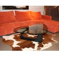 Genuine Cowhide White and Brown Rug (5' x 7')