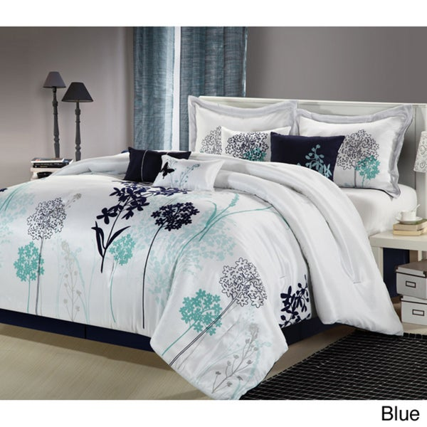 Oasis 8-piece Comforter Set (Queen/Beige)(As Is Item)