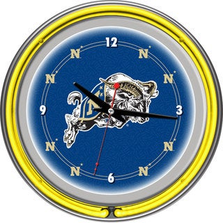 NCAA United States Naval Academy Neon Clock