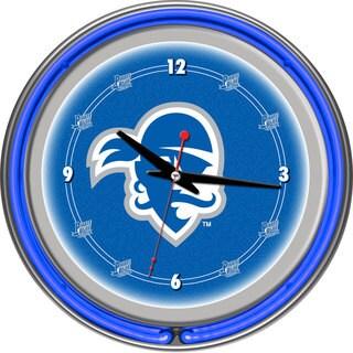 Seton Hall University Neon Clock