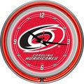 NHL Carolina Hurricanes Neon Clock
