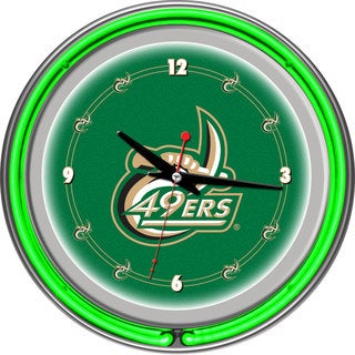 NCAA University of North Carolina Charlotte Neon Clock