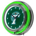 Tulane University Neon Clock - 14 inch Diameter