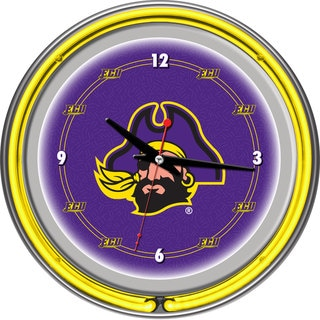 East Carolina University Neon Clock - 14 inch Diameter