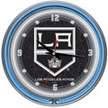 NHL Los Angeles Kings Double Neon Ring Clock