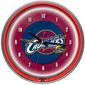 Cleveland Cavaliers NBA Chrome Double Neon Ring Clock