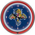 NHL Florida Panthers Neon Clock