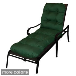 Outdoor All-weather Tufted Fabric Chaise Lounge Cushion