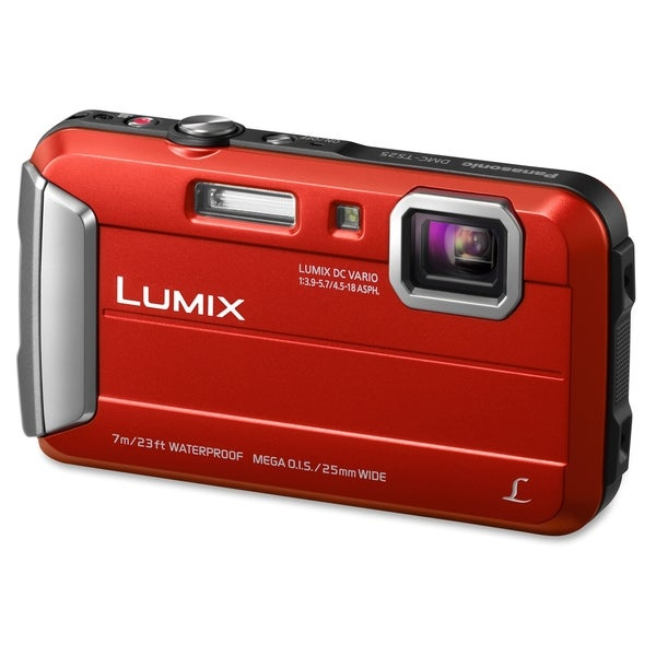 Panasonic Lumix DMC-TS25 16.1 Megapixel Compact Camera - Red