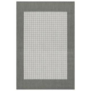 Recife Checkered Field Grey/ White Rug (7'6 x 10'9)