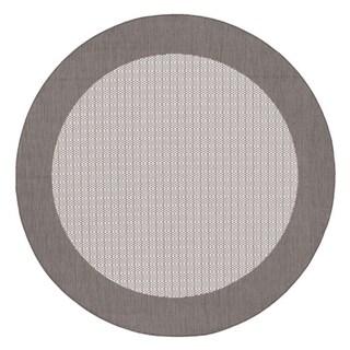 Recife Checkered Field Grey/ White Rug (8'6 Round)