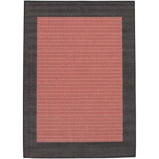 Recife Checkered Field Terracotta Outdoor Rug (2' x 3'7)