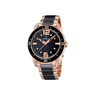 Festina Women's Black Dial and Black Ceramic Quartz Watch