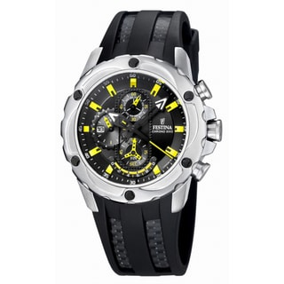 Festina Men's Black/ Yellow Quartz Watch