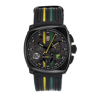 Luminox 'Tony Kanaan' Chronograph Leather Strap Watch