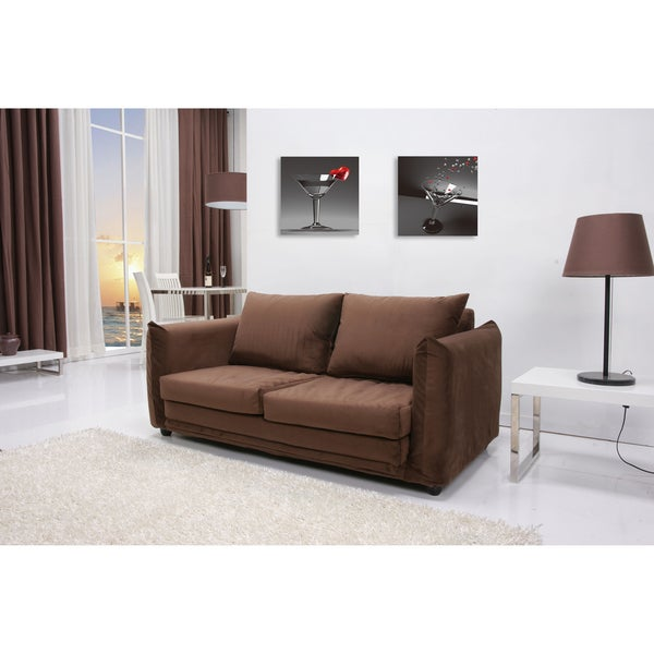 Portland Coffee Convertible Loveseat Sleeper 15117119 Shopping Great Deals