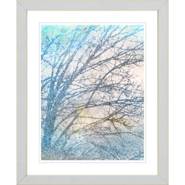 Studio Works Modern 'Winter Sun' Framed Print