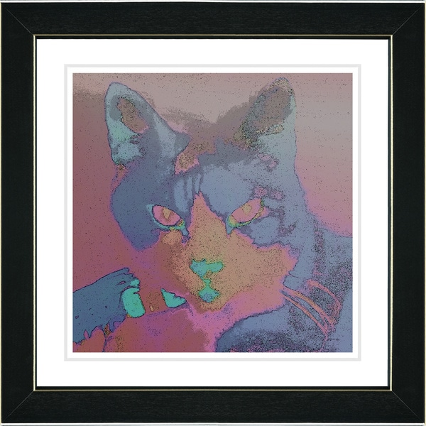 Studio Works Modern 'Cinderella the Cat' Framed Print