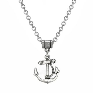 Jewelry by Dawn Pewter Anchor Stainless Steel Chain Necklace