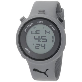 Puma Men's Digital Grey Plastic Quartz Watch