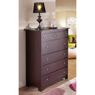Misheline Modern Century 6-drawer Walnut Chest