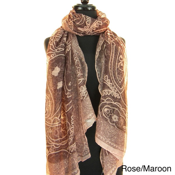 Fashion Scarf/Beach Wrap East Indian Paisley