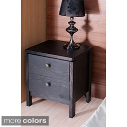 Furniture of America Rocky Contemporary 2-drawer Night Stand