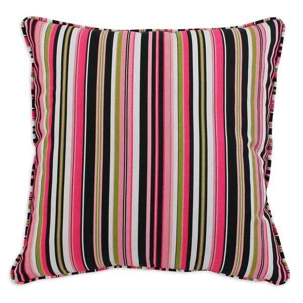Beach Umbrella Stripe 17x17-inch Corded Pillows (Set of 2)
