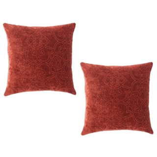 Casanova Persimmon Simply Soft Brick 17x17-inch Decorative Pillows (Set of 2)
